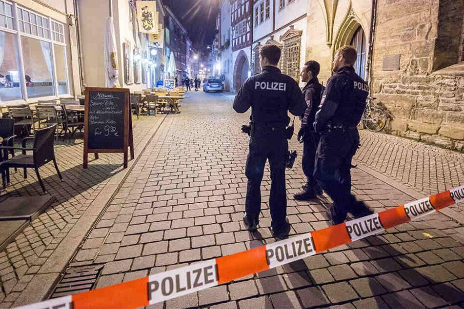 Im Oktober 2017 war es zu einer Massenschlägerei in Erfurt gekommen. Auch daran soll die armenische Mafia beteiligt sein. (Archivbild)