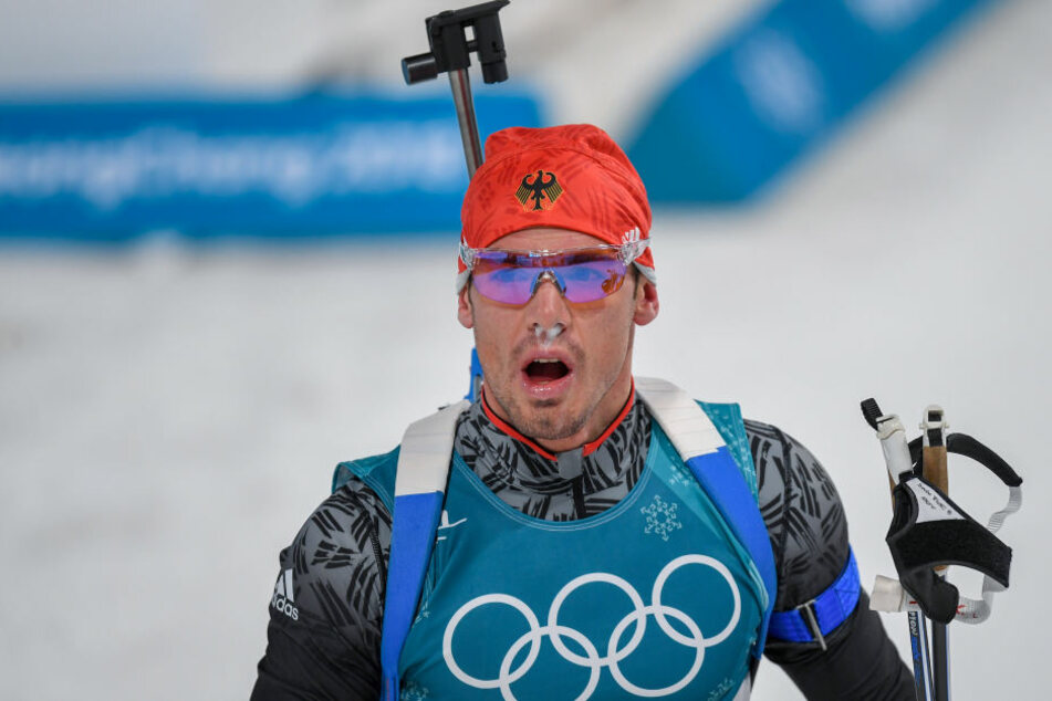 Simon Schempp holte die Silbermedaille im Biathlon-Massenstart.