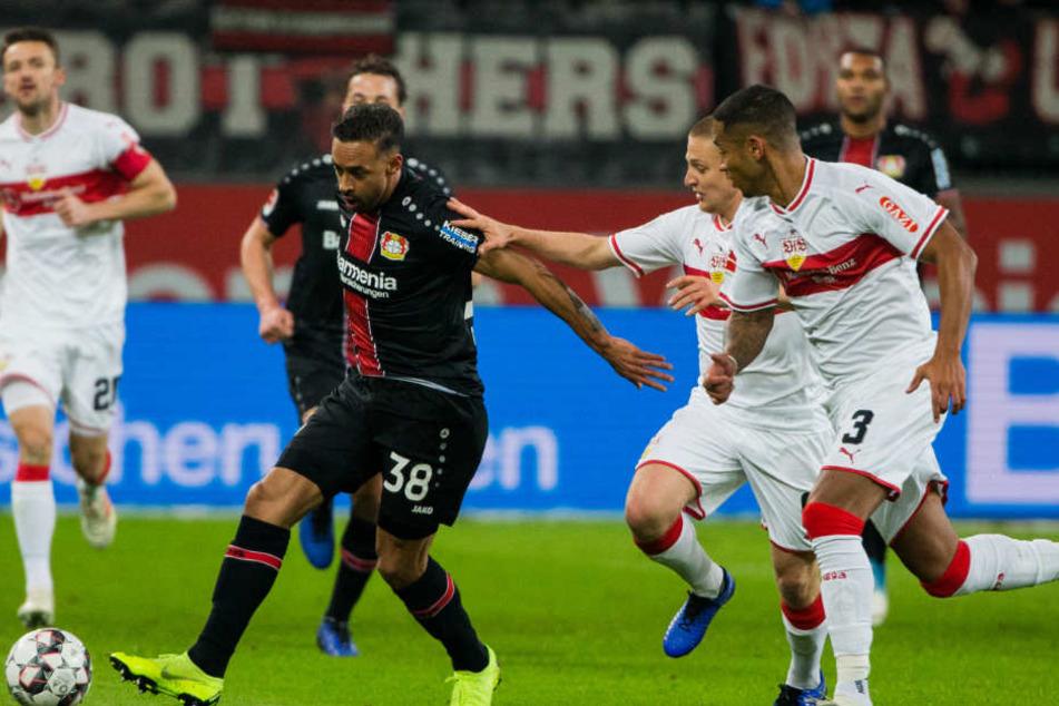 Der VfB Stuttgart zeigte aggressives Abwehrverhalten gegen die Werkself aus Leverkusen.