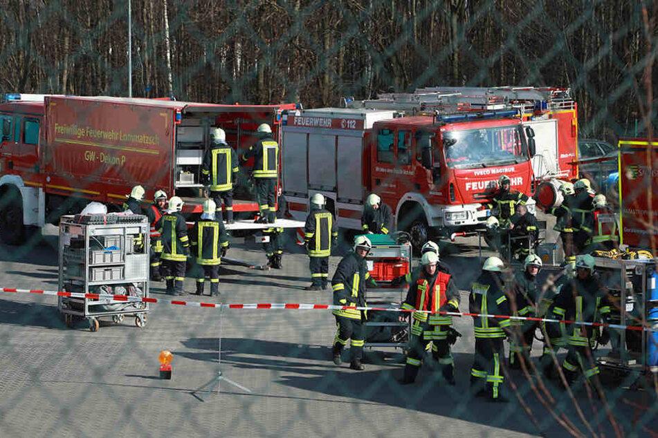 Auf einem Firmengelände in Klipphausen traten giftige Dämpfe aus.