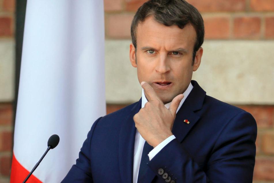 Frankreichs Präsident Emmanuel Macron (39) hat 26.000 Euro für Make-up ausgegeben.