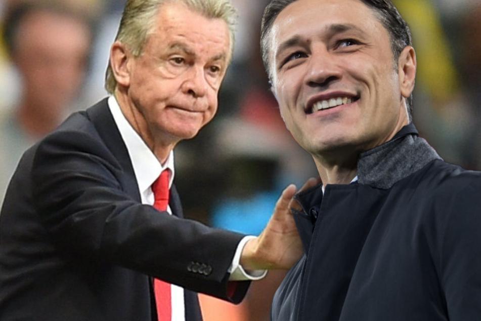 Ottmar Hitzfeld (l.) hegt keinerlei Zweifel an den Fähigkeiten von Niko Kovac (r.).