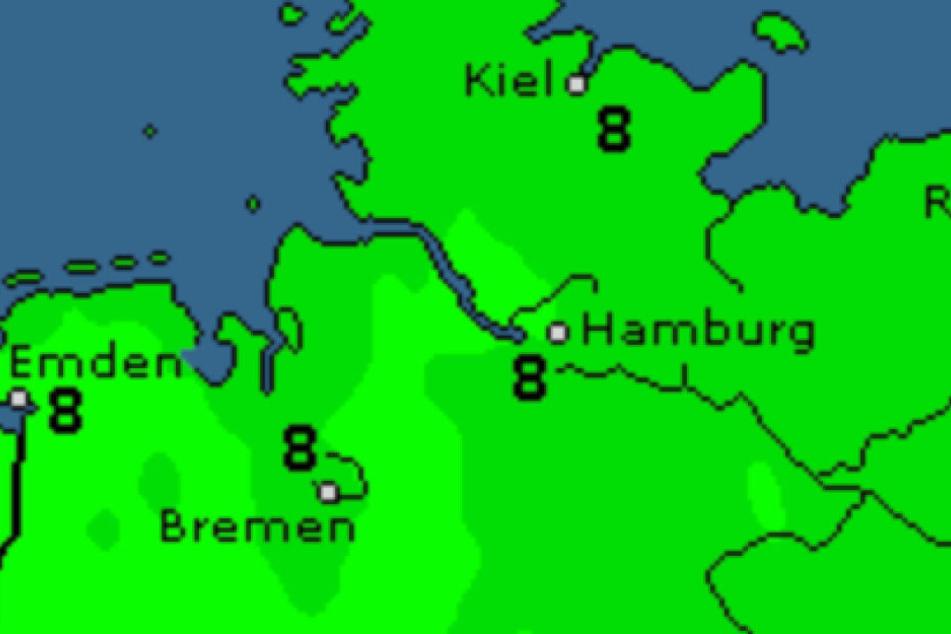 Am Wochenende werden die Temperaturen im Norden mild.