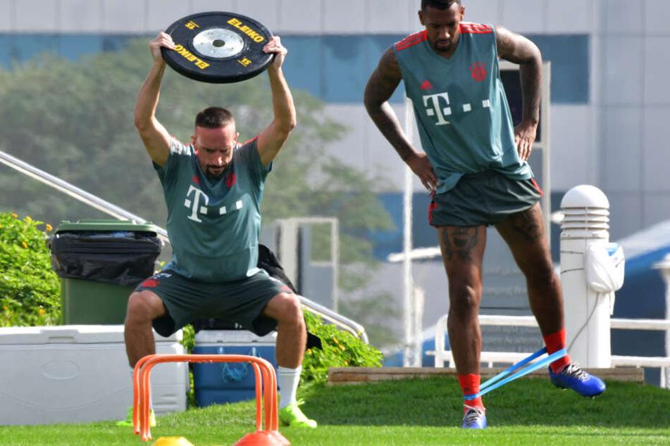 Sie sind nicht mitgeflogen: Ribéry ist Vater geworden, Boateng hat einen Magen-Darm-Infekt. (Archivbild)