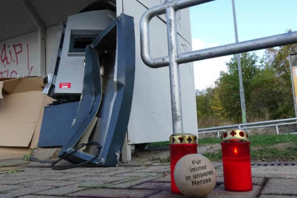 Bei der Sprengung dieses Automaten in Halle (Saale) ist ein 19-jähriger im Oktober 2018 gestorben.