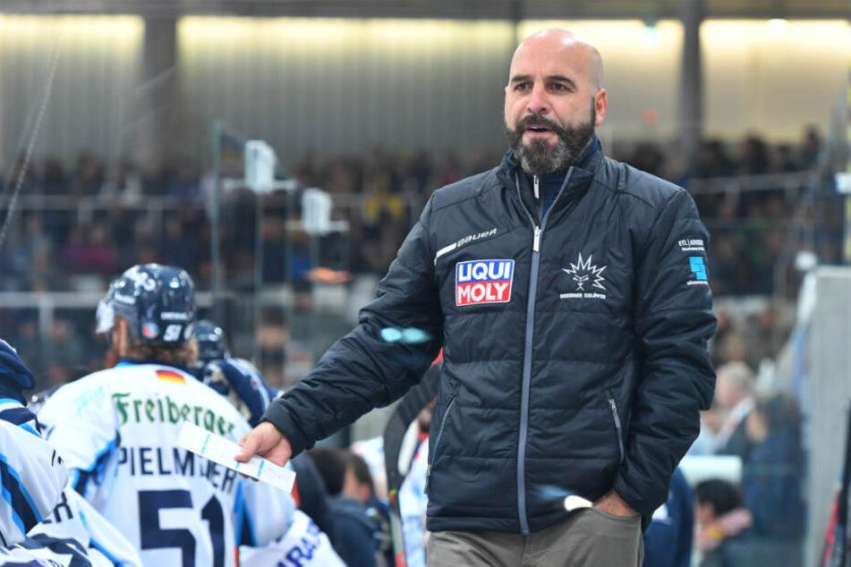 Eislöwen-Coach Rico Rossi. (Archivbild)