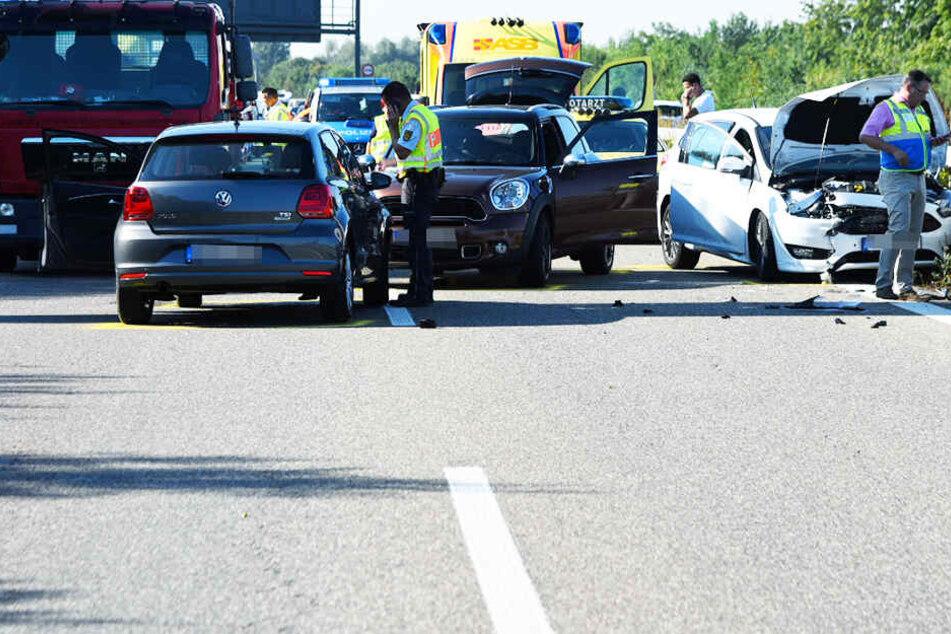 Die Fahrerin fuhr entgegen der Fahrtrichtung auf die Autobahn.
