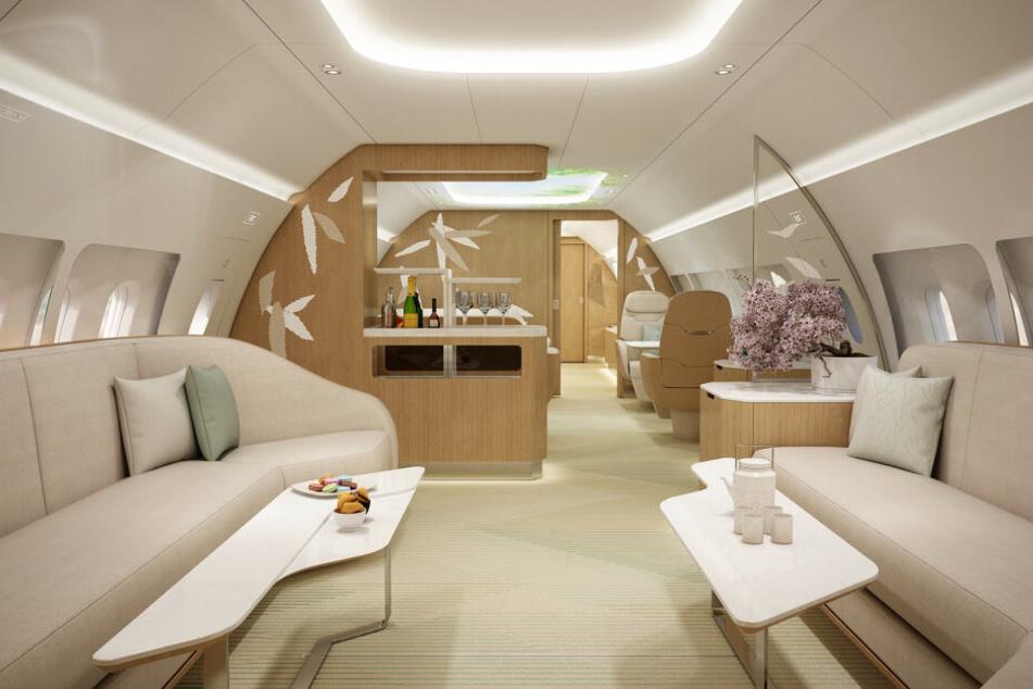Das Unternehmen Ameco will mehr Natur in die Flugzeugkabine bringen.