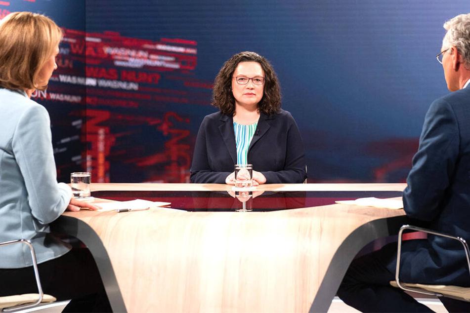 Nach Wahl-Desaster für SPD: Andrea Nahles stellt die Vertrauensfrage