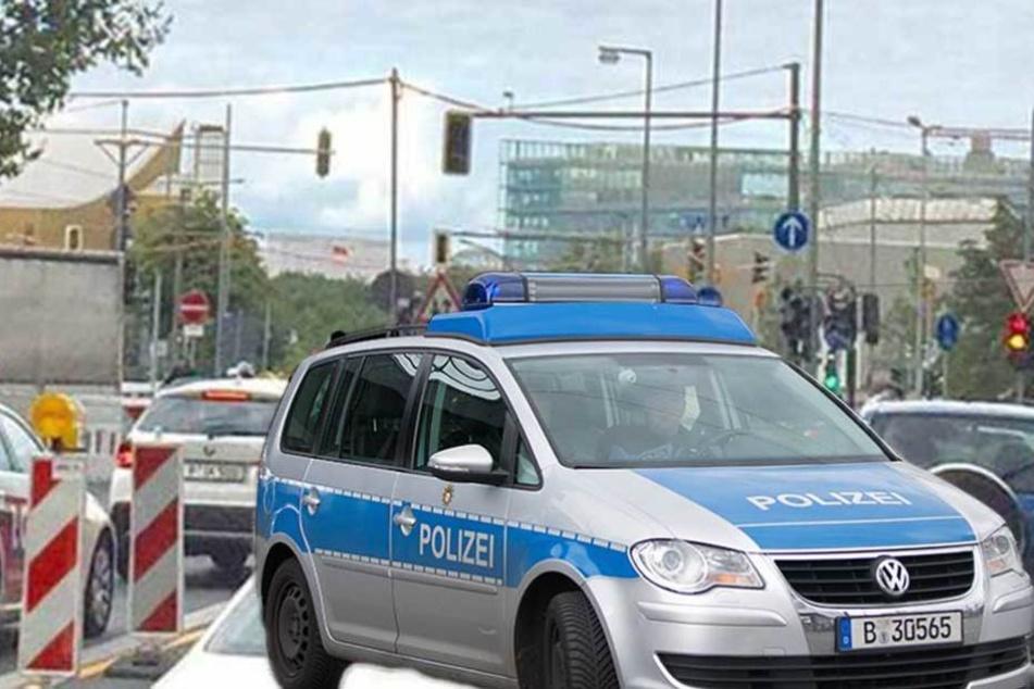 Eine Polizeistreife soll rund um die Uhr an der Potsdamer Brücke postiert werden (Montage).