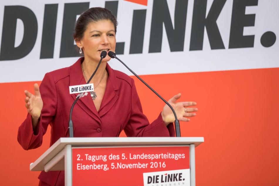 Sahra Wagenknecht kritisierte auf dem Landesparteitag den türkischenPräsidenten Recep Tayyip Erdogan