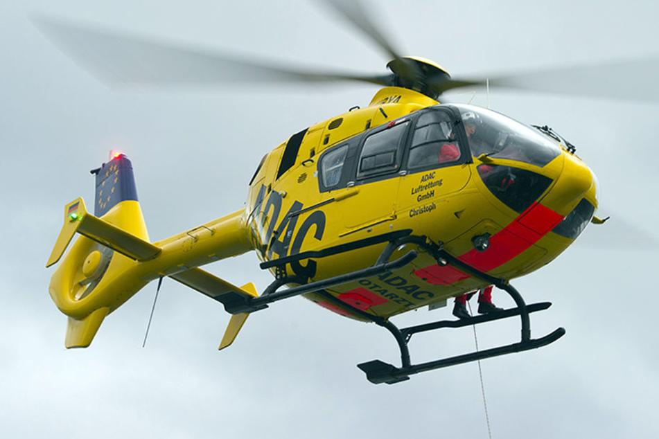 """Der Hubschrauber vom Typ """"Christoph"""" kam nicht zum Einsatz und konnte in die Heimatbasis zurückkehren. (Symbolbild)"""