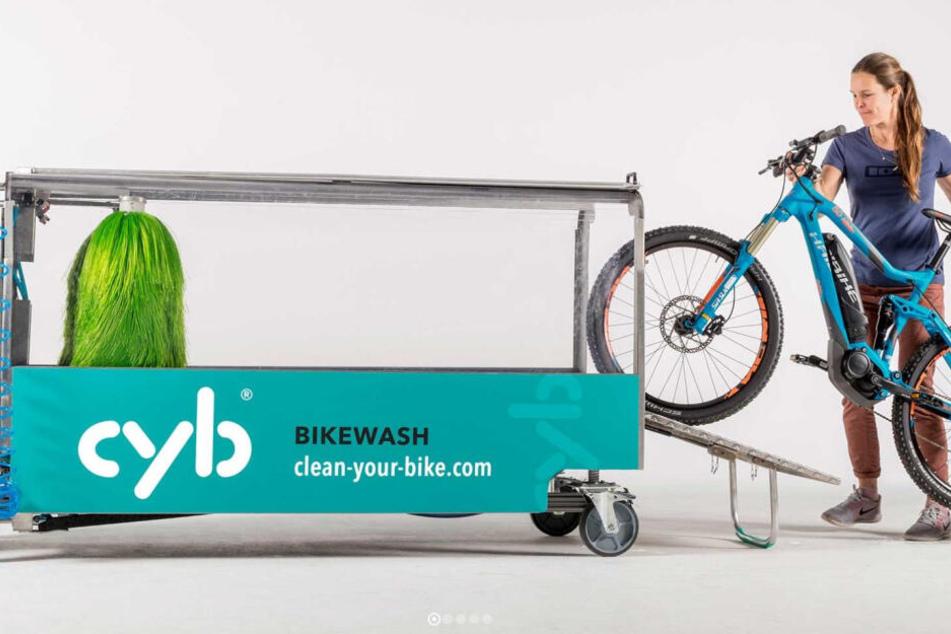 Die mobile Waschanlage für den Drahtesel soll für alle nutzbar sein und kann sogar für Events verliehen werden.