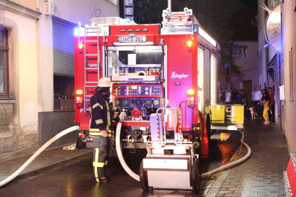 Nach dem Feuer in Ansbach sind vier Wohnungen unbewohnbar.