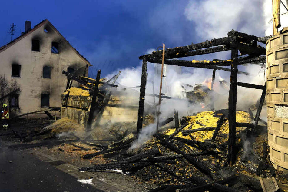 Sechs Personen wurden bei dem Großbrand verletzt.