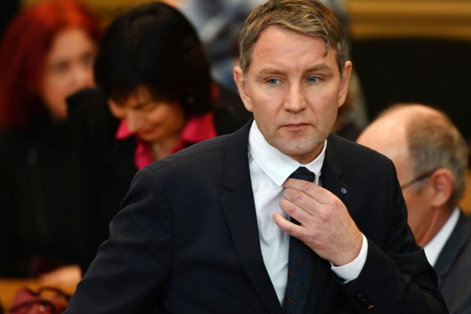 Björn Höcke bei der Gedenkstunde für die Opfer des Nationalsozialismus im Thüringer Landtag.