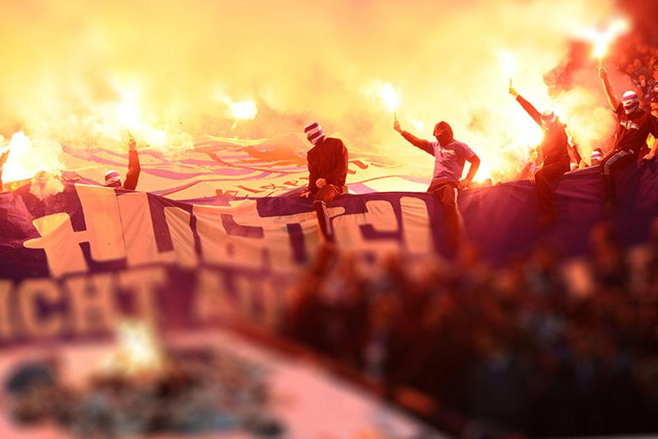 Ultras spielen gerne mit dem Feuer. (Symbolbild)