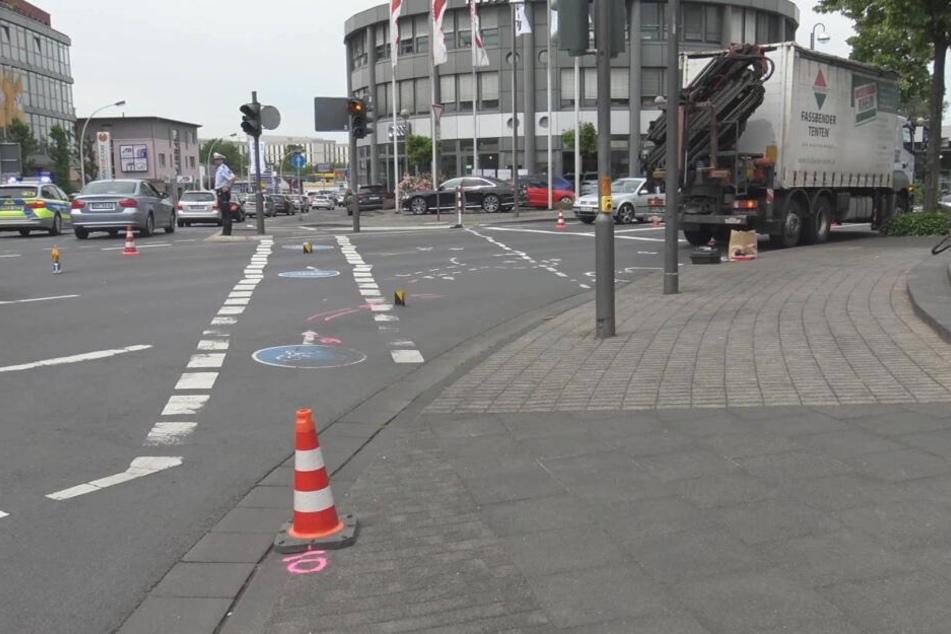 Der Kreuzungsbereich in Bonn, an dem das Unglück geschah.