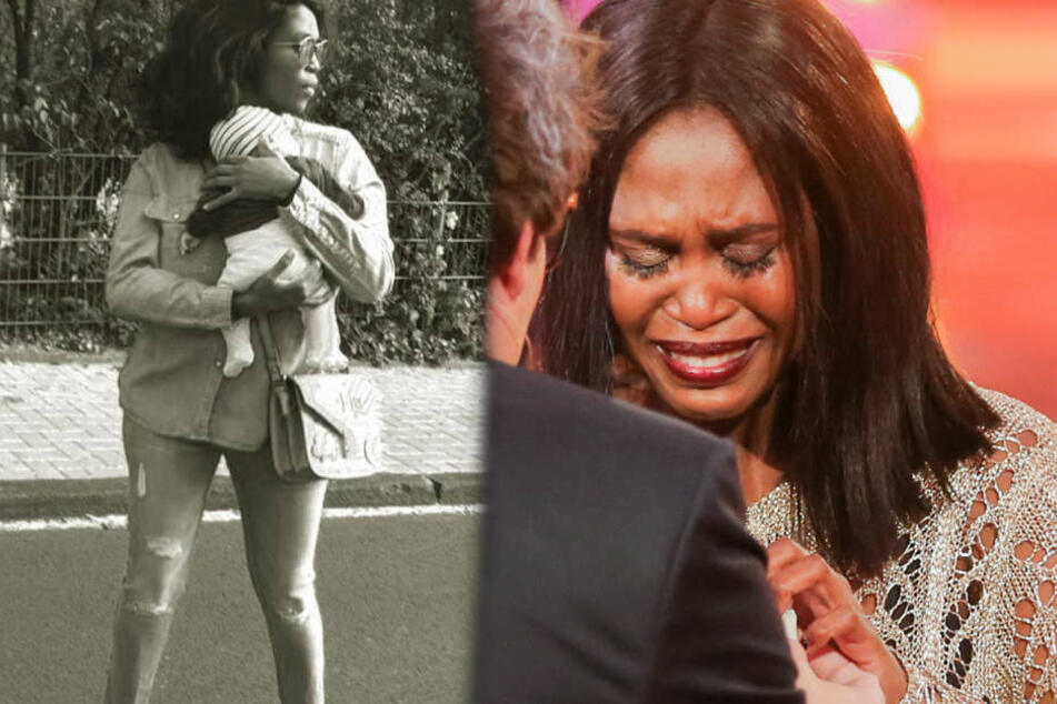 Aktuell leidet die 37-jährige Neu-Mama mit ihrer kleinen Tochter.