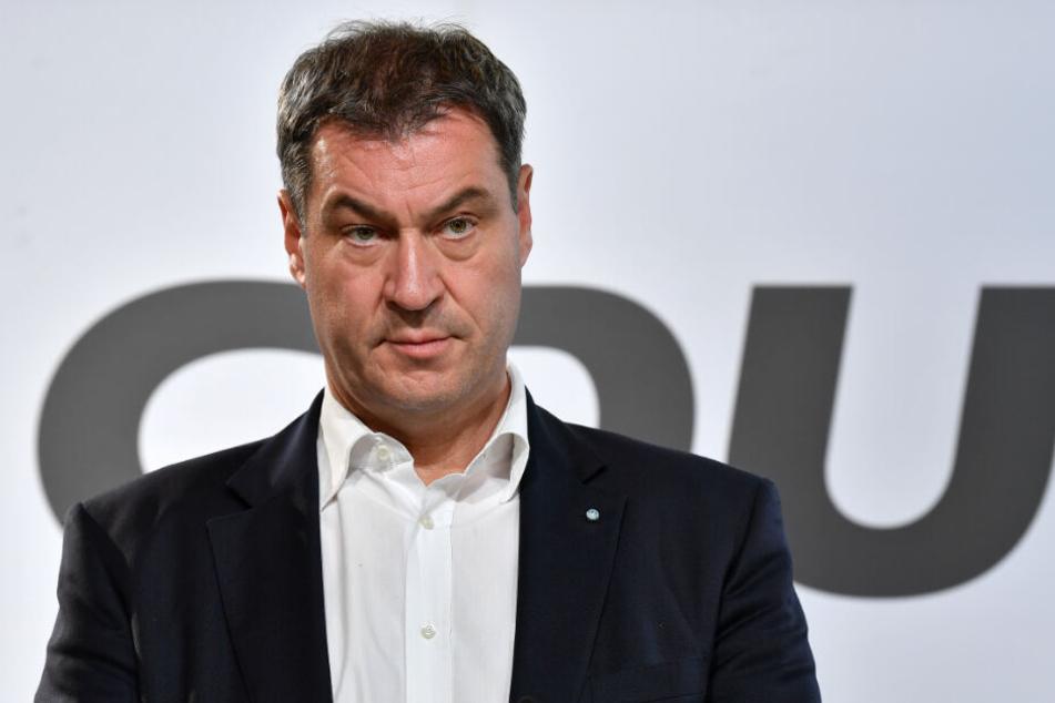 Markus Söder kritisierte die SPD erneut dafür, dass sie sich gegen Ursula von der LEyen stellte.