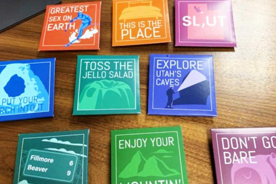 Nur einige der verbotenen Kondom-Motive.