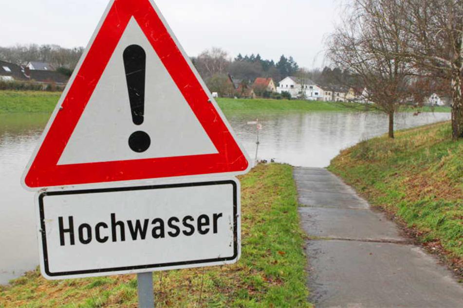 Der Radweg endet im Wasser.