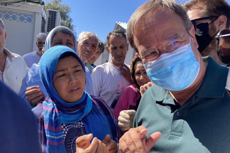 Laschet bricht Besuch in Flüchtlingslager Moria aus Sicherheitsgründen ab