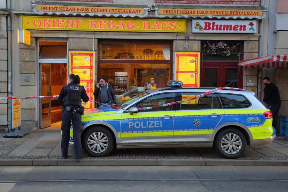 Tatort: Damals sicherte die Polizei das Orient-Kebab-Haus am Schillerplatz ab.
