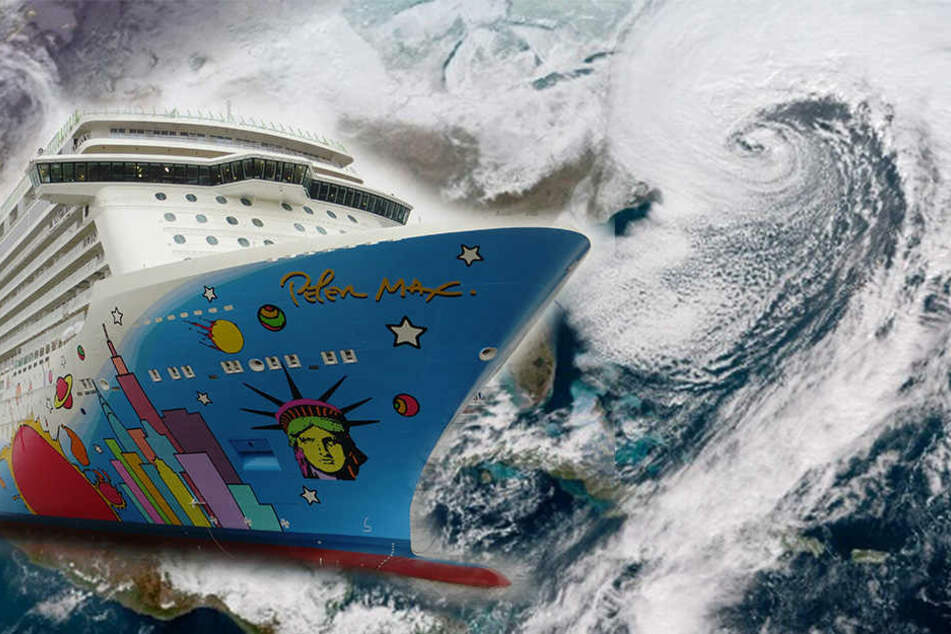 3 Tage lang kreuzte das Schiff mit 4000 Passagieren durch den Mega-Zyklon.