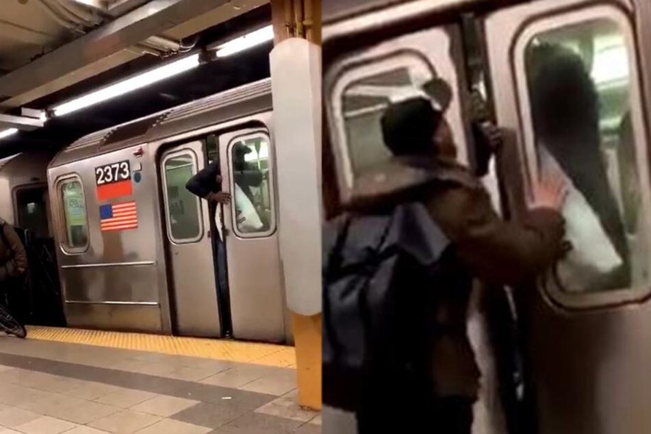 Mann spuckt Fahrgast ins Gesicht, als sich U-Bahn-Tür schließt, doch damit hat er nicht gerechnet