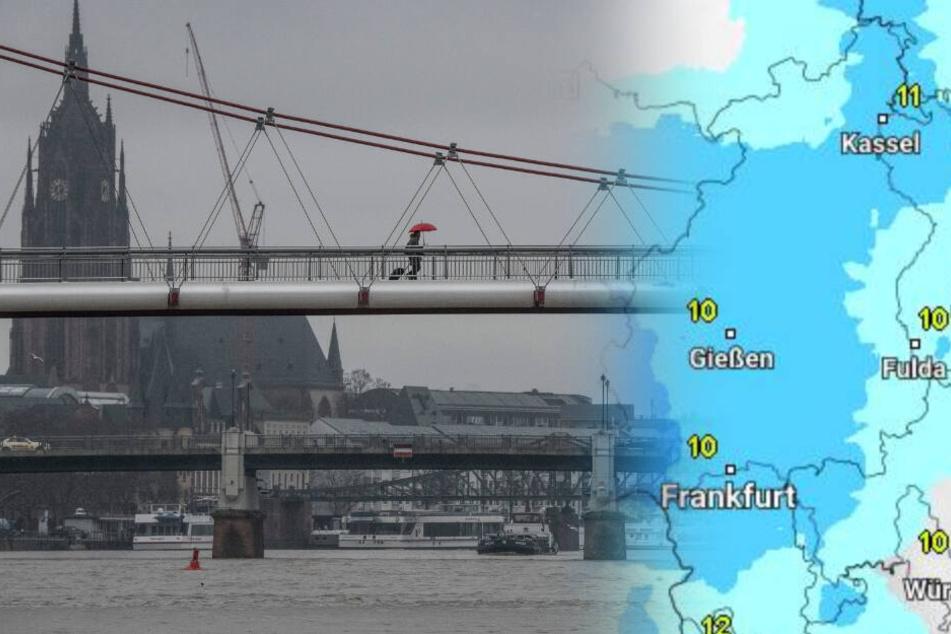 Auch in den nächsten Tagen bleibt es in Hessen regnerisch.