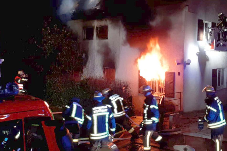 Stuttgart: Vollbrand eines Wohnhauses im Stuttgarter Norden