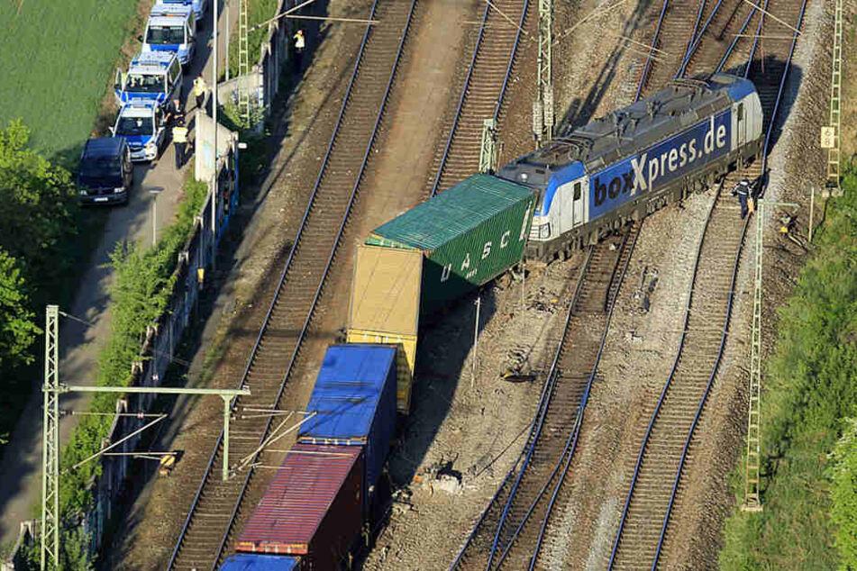 Auf dem Weg an die Nordsee: Güterzug in München entgleist