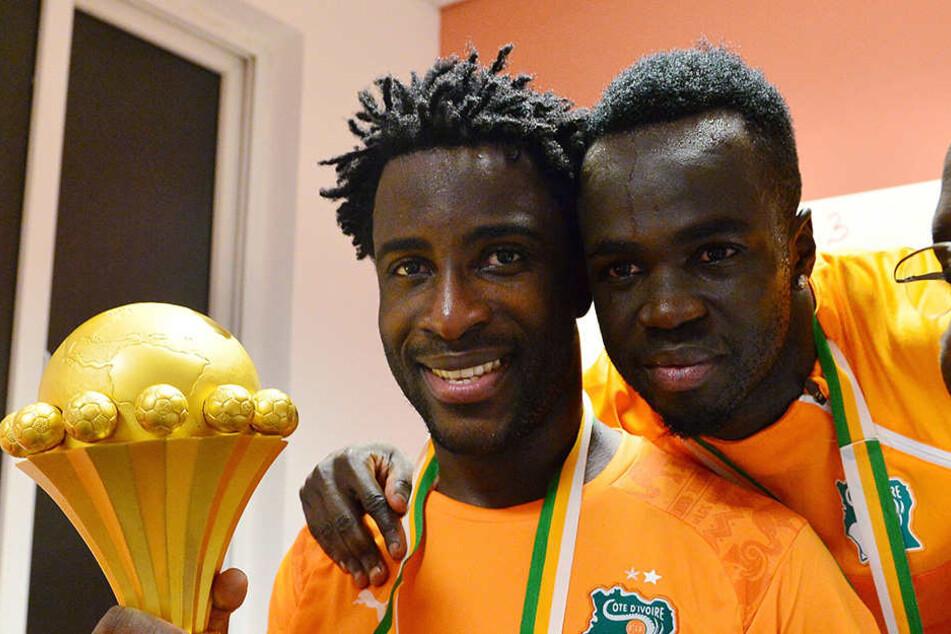 Tioté (re.) gewann mit der Elfenbeinküste 2015 den Africa-Cup.
