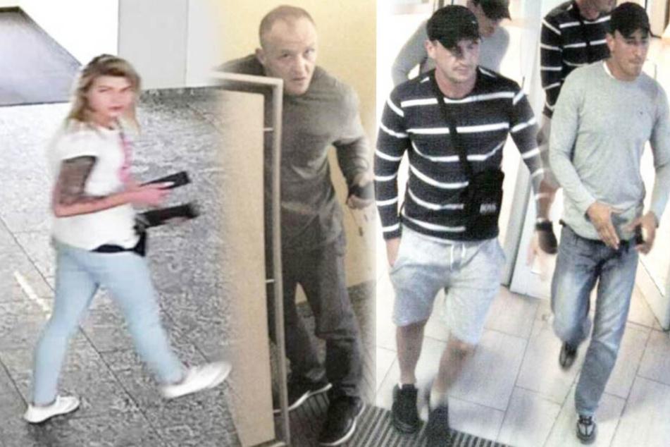 Geldautomaten manipuliert: Polizei fahndet nach vier Personen!