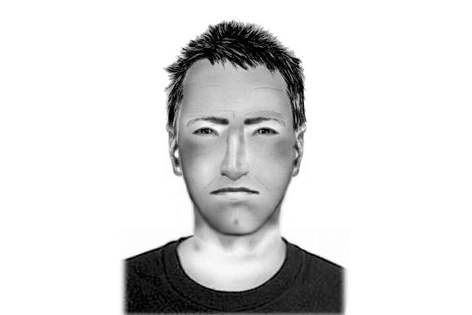 Die Polizei sucht mit diesem Phantombild nach einem der mutmaßlichen Täter.