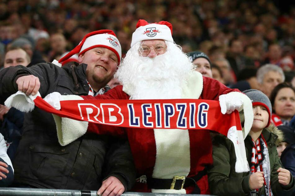 RB Leipzig geht als Herbstmeister in die Winterpause. Da freut sich auch der Weihnachtsmann.