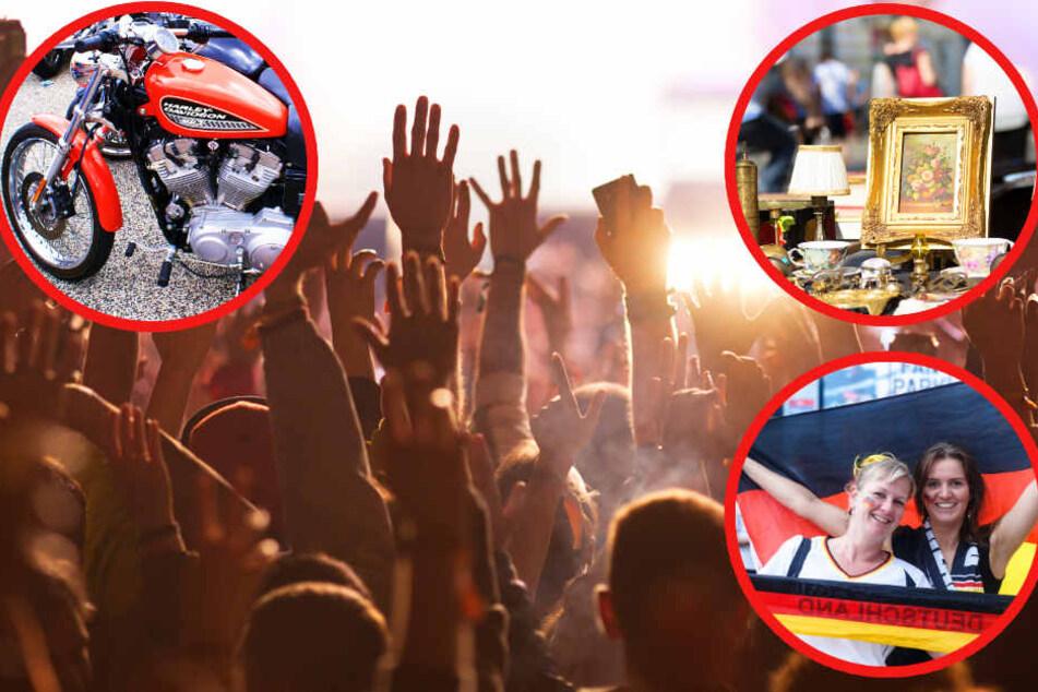 Flohmarkt, Harley Days, Rammstein: Das könnt ihr alles am Samstag erleben