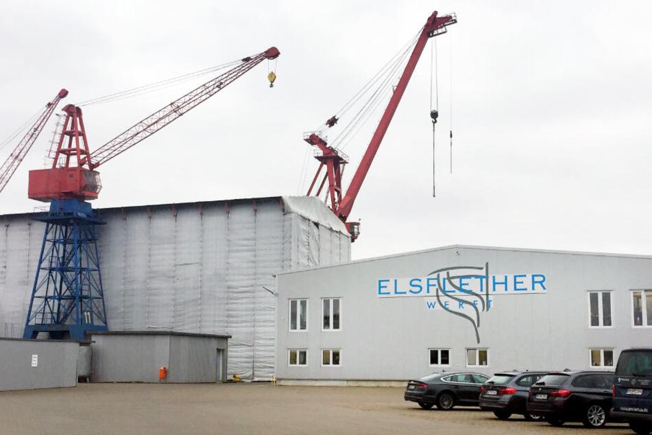 In der Elsflether Werft stehen rund 130 Arbeitsplätze auf dem Spiel.