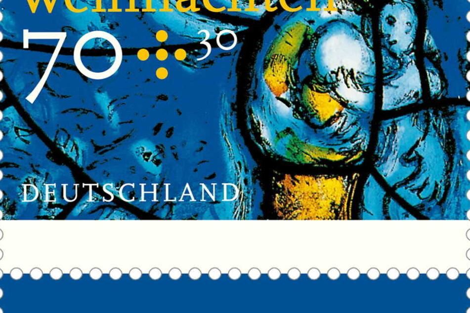 Die Briefmarke hat einen Portowert von 70 Cent.