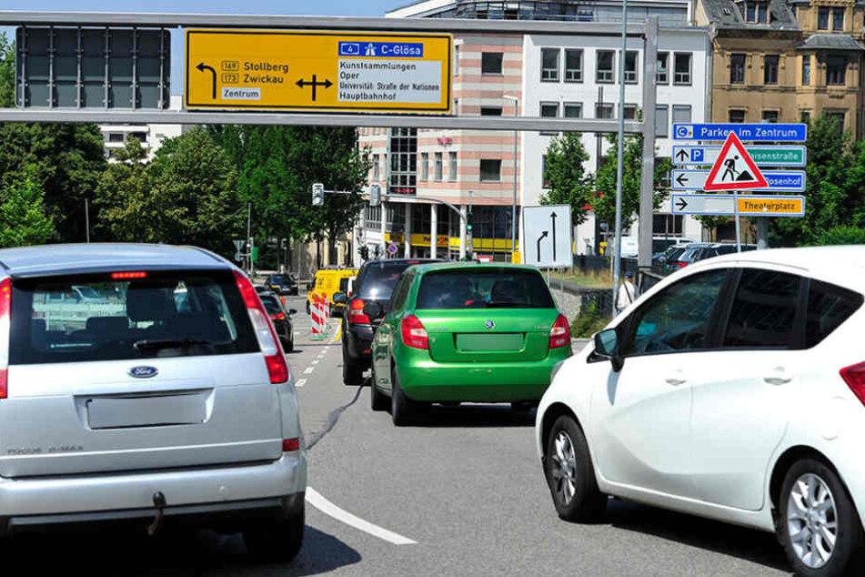 Noch eine Baustelle! Chaos für Autofahrer in Chemnitz