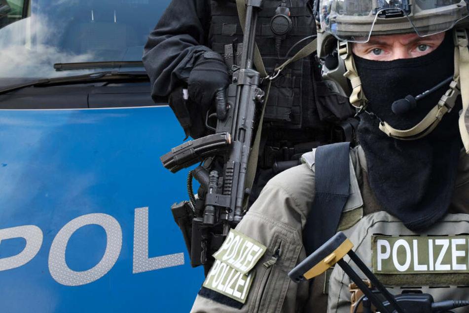 Männer mit Maschinenpistolen! SEK-Einsatz in Frankfurt
