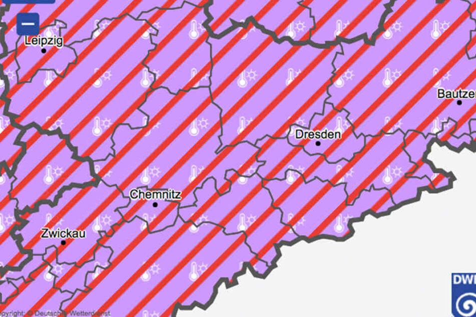 In ganz Sachsen muss mit schweren Gewittern  gerechnet werden.