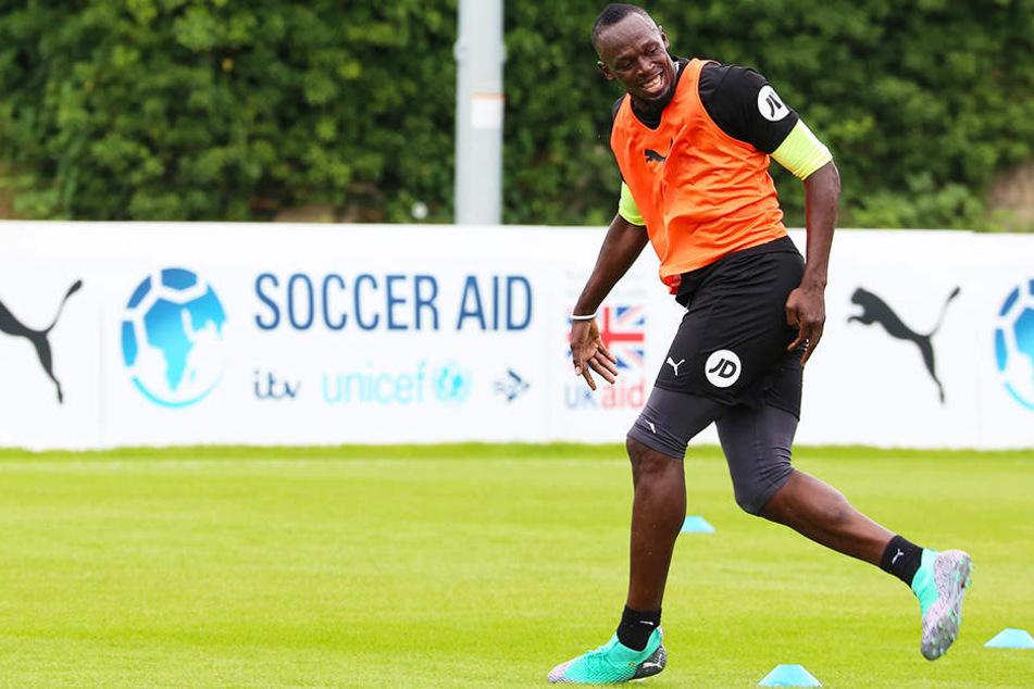 Hat er bald gut lachen? Usain Bolt steht vor einer Karriere im Profifußball.