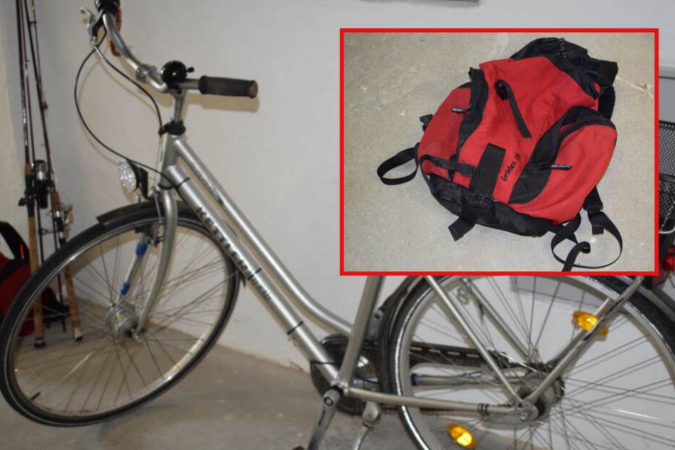 Wem gehören Rucksack, Damenrad und Fisch? Polizei hat schlimmen Verdacht