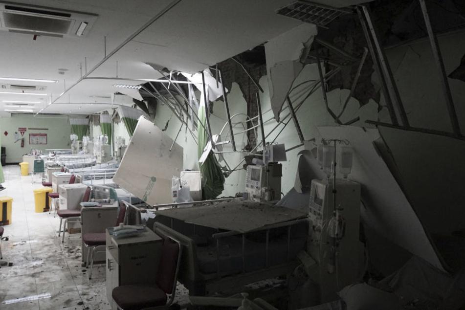 Dieses Gebäude wurde komplett zerstört.