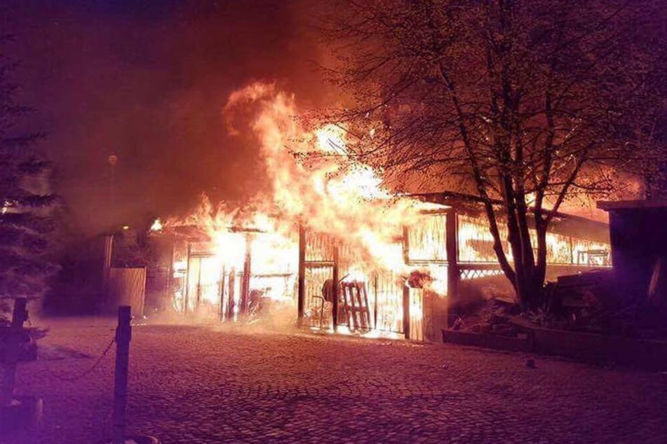 Unweit der Alten Kaffeerösterei brannte ein Lagerschuppen.