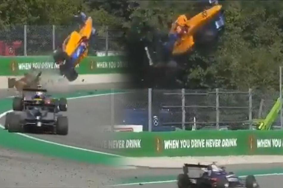 Mega-Crash in Formel 3: Wagen schleudert acht Meter durch die Luft, doch dann das...