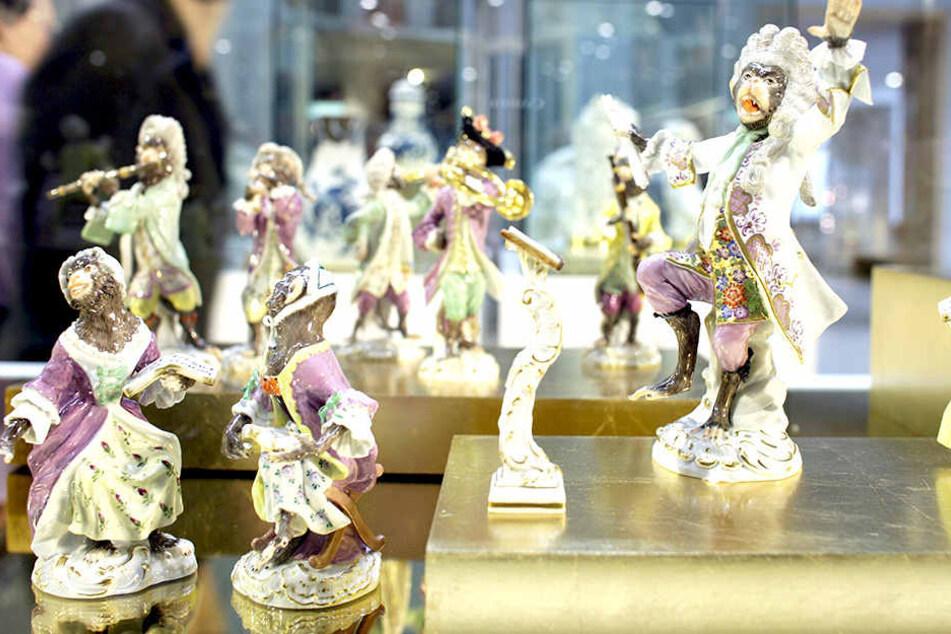 Solche Figuren von Meißner Porzellan wurden aus einem Laden entwendet.