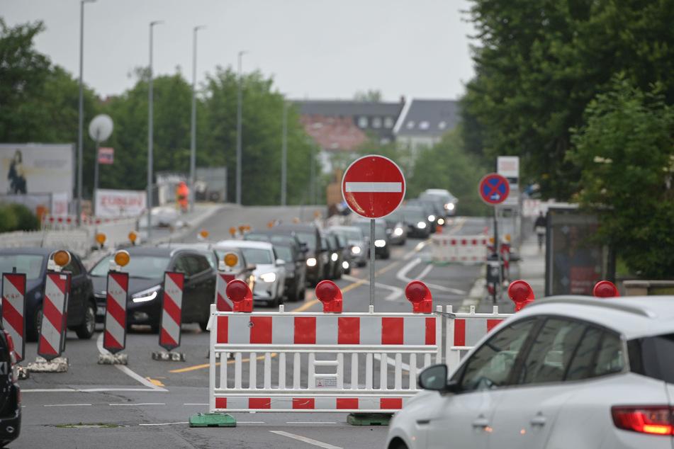 Wegen Straßenbauarbeiten wird die Zschopauer Straße/B174 in den nächsten Wochen zur Einbahnstraße. (Archivbild)